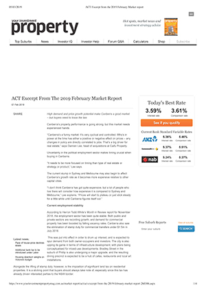 Expert Commentary - ACT Market Outlook